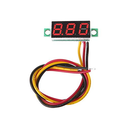 Werst - Voltmetro digitale da 0,28 pollici, mini DC 0-100 V, con display a LED