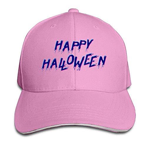 Wfispiy Men's Athletic Baseball Fitted Cap Hat Happy Halloween Durable Baseball Cap Hats Adjustable Peaked Trucker Cap ABCDE13345 (Baseball-halloween-kostüme S Men)