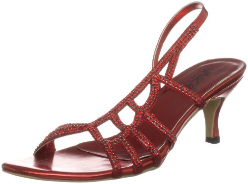 Unze Evening Sandals, Sandali donna Rosso (Rot (L18202W))