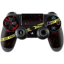 Sony Playstation 4- Funda protectora adhesiva para mando de PS4 (también PS4Slim & PS4Pro), Crime Scene