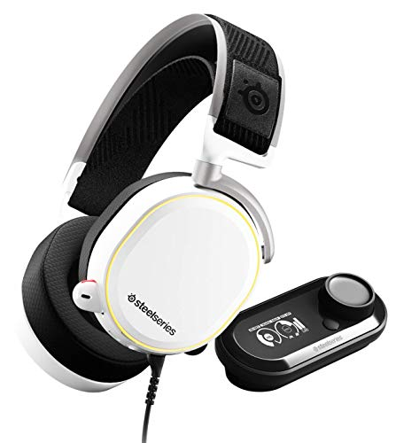 SteelSeries Arctis Pro GameDAC - Cuffie da Gioco - Audio ad Alta Risoluzione Certificato - ESS Sabre DAC - Bianca