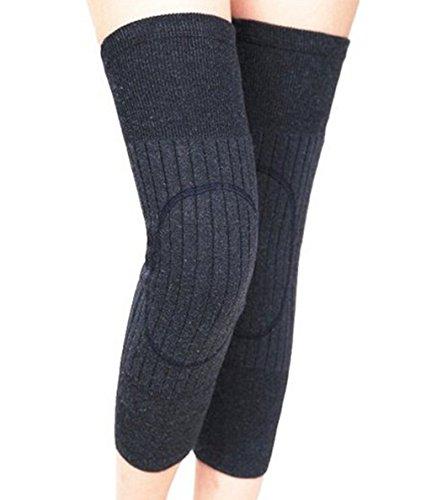 TININNA Winter Atmungsaktive Elastische Wolle Kniewärmer Kaschmir Knie Klammer Knieschoner tiefen grauen