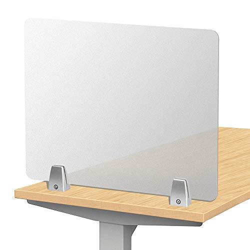 Creechwa Mattierter Schreibtisch Trennwand Büro Trennwand Desktop Privatsphäre Panel für Student Call Center, Büros, Bibliotheken, Klassenzimmer aus mattiertem Acryl, 50 * 40