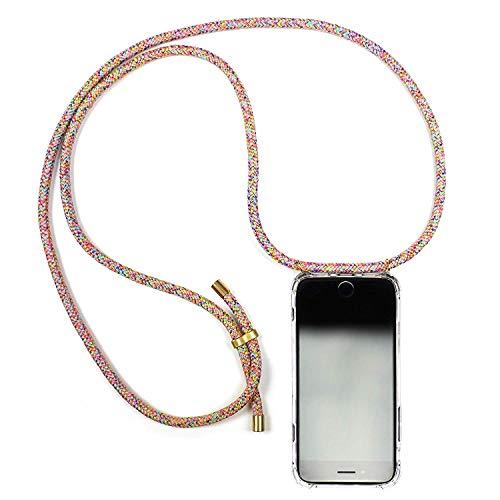 KNOK case Handykette iPhone 8 Necklace Handyhülle mit Band - Smartphone Hülle mit Kordel zum Umhängen - Handy-Kette für Hals Case/Handy Strap Seil iPhone 8 (iPhone 7/8, Unicorn)