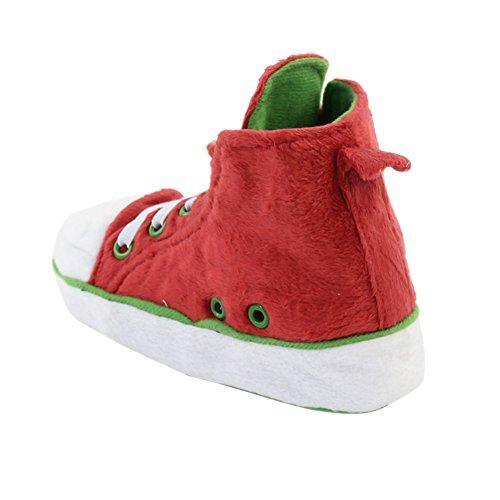 Gohom - Stivali Chelsea uomo Red&Green