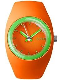IoIon  BU-RGF25 - Reloj de cuarzo unisex, con correa de silicona, color naranja