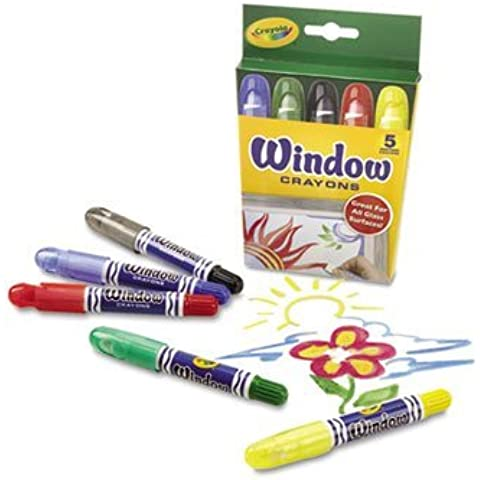 Washable Window Crayons, 5/Pack by Crayola