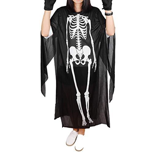 st Kostüm Skeleton Kleidung Kinder Erwachsene Unisex Kostüm Kostüme Schädel Kleidung Robe Cosplay Partei ()