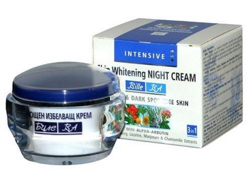 D Whitening-creme (Intensive Whitening Nachtcreme gegen Sommersprossen und dunkle Flecken mit Alpha-Arbutin, Kamille- 50 ml)