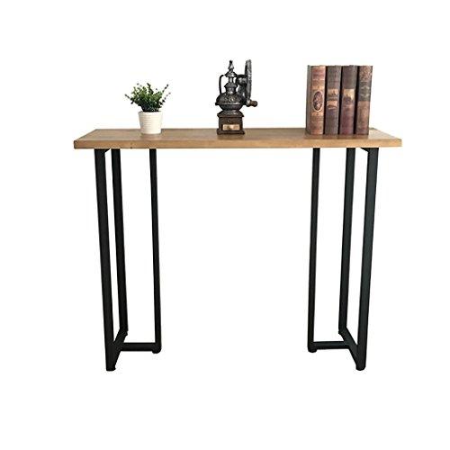 Tische Einfache Eingang Rechteck Tisch Massivholz Wand Rand Eisen schmalen Tisch Sofa Seite Telefon Kaffee Beistelltisch ( größe : 35*70*60cm )