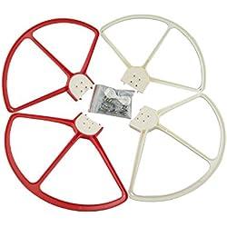 Fytoo Accessoires 4PCS Protecteurs d'Hélice Démontable pour DJI Phantom 3 Phantom 2 Phantom 1 4K RC Drone Standard Professionel Quadcopter