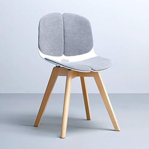 Ordentlicher Stuhl Moderne Schmetterlingsstuhl Lounge Chair Fashion Rezeption Salon Verhandlung Stuhl Home Zurück Stuhl Esszimmer Stuhl Restaurant Cafe Hocker (Color : Gray) -