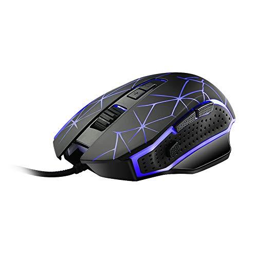 TYewa98556 Gaming-Maus für elektronische Sportarten, G816, 8 Tasten, 3200 DPI, einstellbar, LED, optisch, PC, Laptop, USB Siehe Abbildung - Maus Logitech M310 Wireless