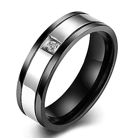 Thumby Stainless Steel Black Gun Plated 5.3g Romantic Steel Ring for Men,7