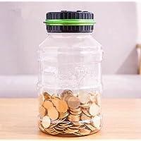 Grande Piggy Banco puede no Enter transparente Hucha Moneda de creativo regalo de cumpleaños, Verde