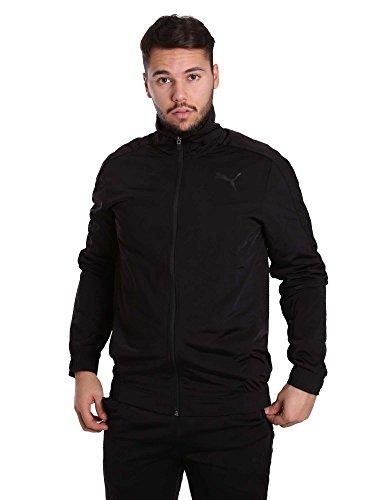 PUMA Herren Techstripe Tricot Suit Cl Trainingsanzug, Schwarz (puma black), S -