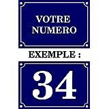 Autocollant sticker numero de rue boite aux a lettre plaque personnalisable