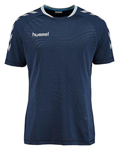 Hummel Herren Kinetic SS Jersey Trikot, Dress Blues/Sleet, M