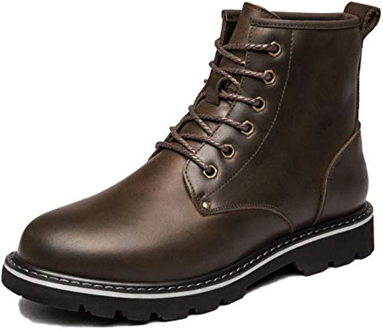 0a3725f474d7 Inverno Martin Stivali da Uomo Uomo Uomo Inghilterra Alta Aiuto più Stivali  di Velluto Pizzo Breve