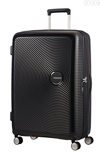 AMERICAN TOURISTER Soundbox - Spinner 77/28 Expandable Bagaglio a mano, 77 cm, 97 liters, Nero (Bass Black)