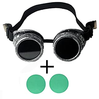 AFUT Vintage Steampunk Goggles Glasses Steampunk Gothic Lenses Glasses Cosplay