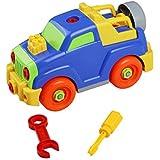 Montage Spielzeug Baufahrzeuge Spiel DIY Gebäude Spielzeug Für Jungen Kinder ab 3 Jahre Alt