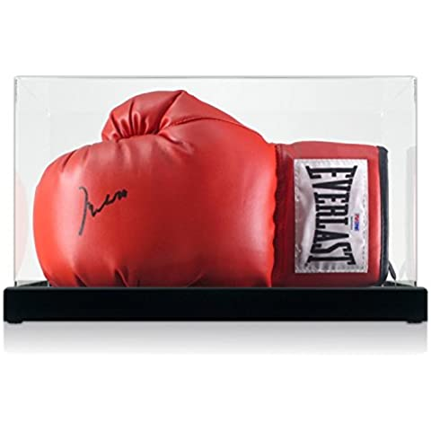 Muhammad Ali guantes de boxeo firmado en caja de la pantalla (PSA ADN 3A96864)