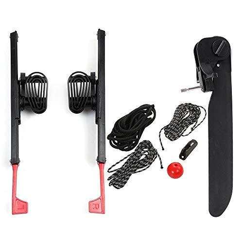 Seimuil 2Pcs Ajustable Bloqueo Kayak Foot Braces Pedales