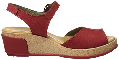 El Naturalista Damen N5000 Pleasant Leaves Open Toe Sandalen Rot (Tibet)