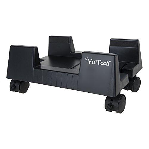 confronta il prezzo VulTech CP-02 Carrello Porta PC, Plastica, 4 Ruote, Nero miglior prezzo