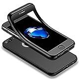 HICASER iPhone 7 Plus 360 Grad Hülle + Panzerglas, Komplettschutz Vorder und Rückseiten Schutz Schale Ganzkörper-Koffer Soft TPU Schutzhülle für iPhone 7 Plus 5.5