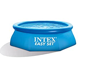 AK Sport 0775269 244 x 76 cm Intex 28112 GN Kit piscina facile da montare – blu