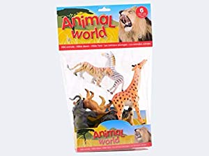 JohnToy 26780 Animal World - Animales Salvajes (6 Unidades)