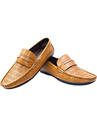 RJKART Faux Leather Partywear Casual Slip On Loafer Shoes For Mens Stylish