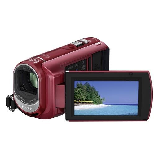 Sony DCR-SX30ER SD-Camcorder (Memory Stick, 60-fach optischer Zoom, 4 GB interner Speicher, 6,9 cm (2,7 Zoll) Display, Bildstabilisator, Touchscreen) rot