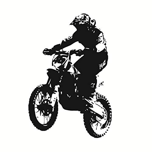 Motorrad Wandtattoo Dirt Bike Wohnzimmer Selbstklebende Kinder Motocross Motorrad Vinyl Aufkleber Removable Home Decor 58x87cm