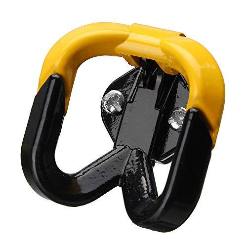 Kungfu Mall moto gancio casco gadget guanto universale giallo per Honda/Kawasaki/Yamaha/Scooter