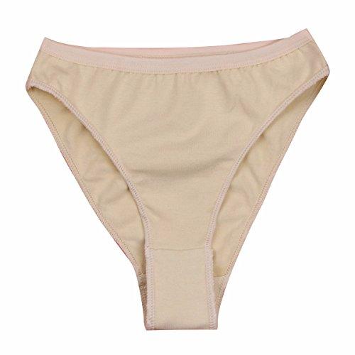 YiZYiF Girls Nude Seamless Ballet Dance Gymnastics High Cut Briefs Underwear Knickers