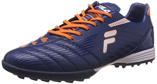 Fila Men's Back Pass Peacoat and Orange Football Boots -9 UK/India (43 EU)