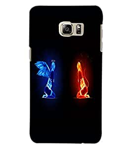 SAMSUNG GALAXY NOTE 5 EDGE ANGEL AND DEVIL Back Cover by PRINTSWAG