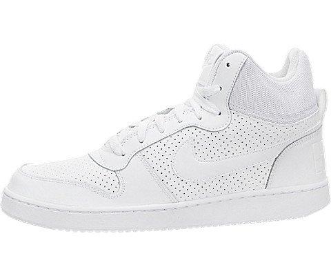 NIKE - Court Borough Mid - Sneakers Alte Uomo - Total White - 838938 111 (44 1/2)