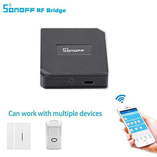 3 in 1 Kits:Sonoff RF Bridge WiFi 433Mhz + PIR2 PIR Infrared Human Sensor +  DW1 Door and Window Alarm Sensor For Smart Home Remote Control by iOS
