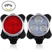 ZEROF Wiederaufladbare LED Fahrradlampe Wiederaufladbare LED-Bike Lights Set,Scheinwerfer Kombinationen Rücklicht LED Fahrrad Licht Set