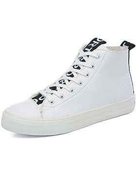 high-top scarpe di tela donne bianche/scarpe basse studenti selvaggio/Gli studenti scarpe piane pizzo selvaggia