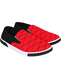 Friends Cart Black & Red Cushioned Sneakers