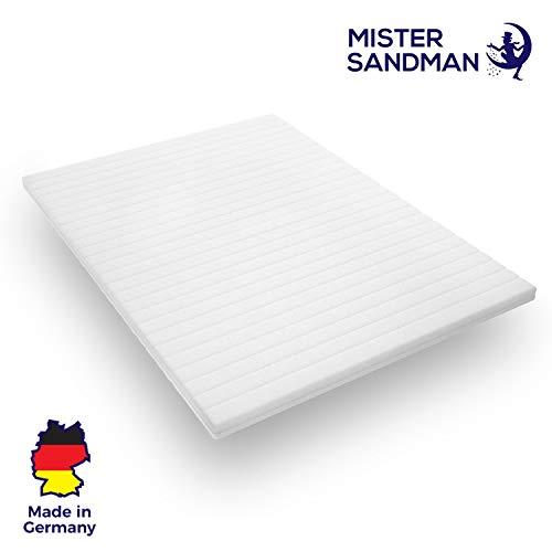 Mister Sandman weicher Kaltschaumtopper für ergonomisches Liegen - punktelastische und atmungsaktive Matratzenauflage für alle Matratzenarten, (180 x 200 cm, Doppeltuchbezug)