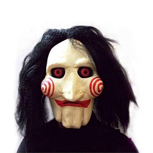 Maschera maschera for ballo in maschera maschera for testa di parrucca in lattice di halloween/carnevale/motosega