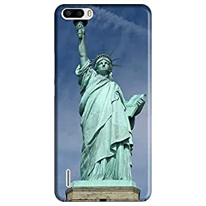 Mobo Monkey Designer Printed Back Case Cover for Huawei Honor 6 Plus (Statue Of Liberty :: Usa :: United States Of America :: Newyork :: America)