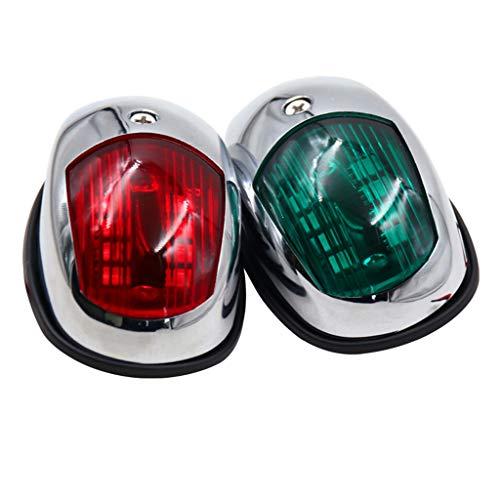 NUOVO SET in acciaio inox LED luci di posizione lanterna di navigazione fanali di navigazione