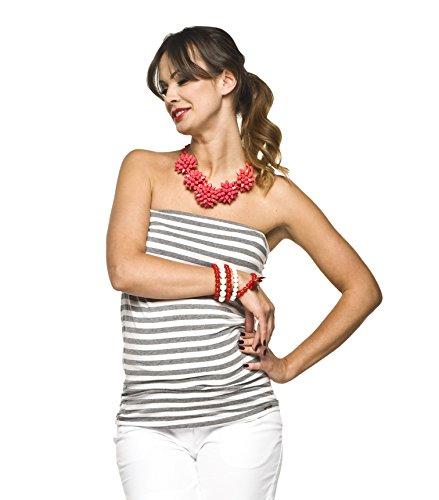 Torelle - Jupe spécial grossesse - Femme blanc/gris